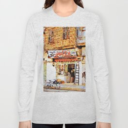 Aleppo: bicycle in front of the shop Long Sleeve T-shirt