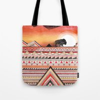 journey Tote Bags featuring Journey by Sandra Dieckmann