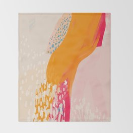 The Abstract Shape Of Spring Throw Blanket