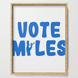 """A Nice Running Tee For Runners Saying """"Vote Miles"""" T-shirt Design Trumpet Band  Serving Tray"""