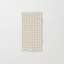 Small Diamonds - White and Khaki Brown Hand & Bath Towel