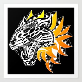 Golden Tiger Ecopop Art Print