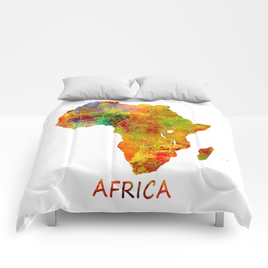 Africa map colored Comforters