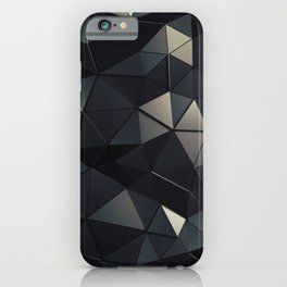 Polygon Noir iPhone Case