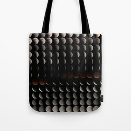 Super Moon, Blood Moon, Total Lunar Eclipse timelapse showing all phases Tote Bag