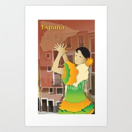 Hispanic Heritage Series - Espana Flamenco Dancer Art Print