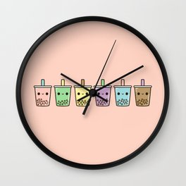 Bubble tea Wall Clock