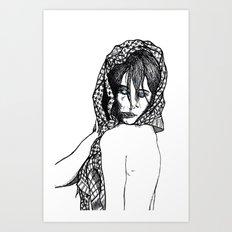 Girl 5 Art Print
