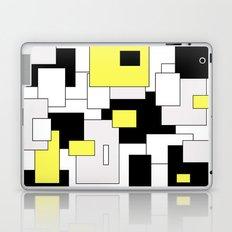 Squares - yellow, black and white. Laptop & iPad Skin