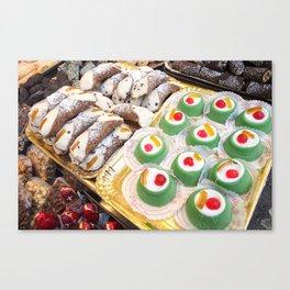 Sicilian cannoli and cassata Canvas Print