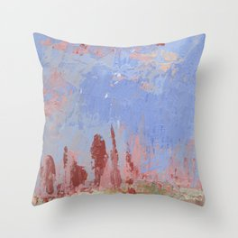 Standing Stone Circle in Pastels Throw Pillow