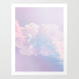 Whimsical Pastel Candy Sky #surreal #society6 Art Print