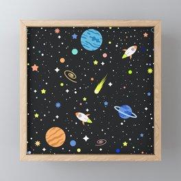 space universe Framed Mini Art Print