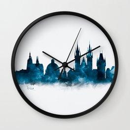 Prague Skyline Wall Clock