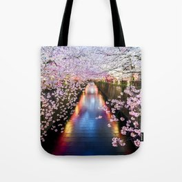 Cherry Blossom in pink   Japan Nakameguro River Tote Bag
