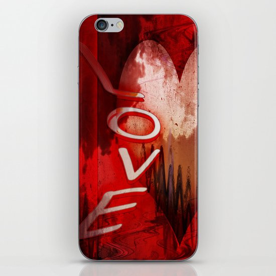 Love abstract iPhone & iPod Skin