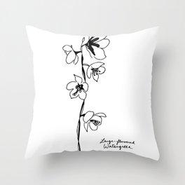 Large-flowered Wintergreen Throw Pillow