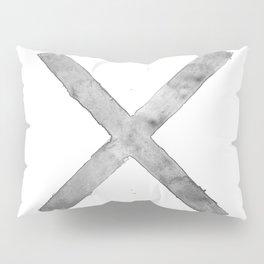 BLACK AND WHITE CROSS Pillow Sham