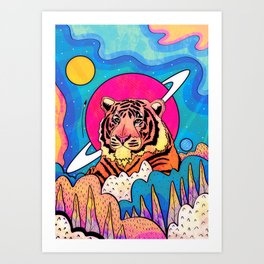 The space tiger Art Print