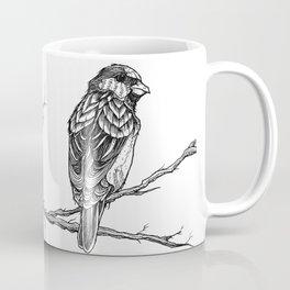 Two Sparrows by Sketchy Reputation Coffee Mug