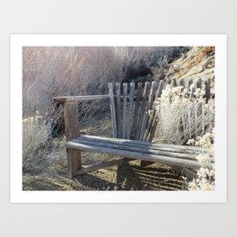 Silver Bench Art Print