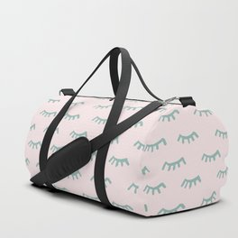 Sleeping Eyes Of Wisdom-Pattern - Mix & Match With Simplicity Of Life Duffle Bag