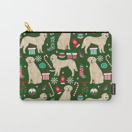 Golden Retriever festive christmas dog illustration pet portrait pet friendly gifts for dog breed Carry-All Pouch