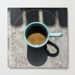 Coffeecup Eclipse Metal Print