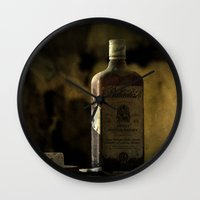 whisky Wall Clocks featuring Ballantines Finest Scotch Whisky by AliceArtDotCom