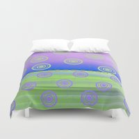 circles Duvet Covers featuring Circles by Fine Art by Rina