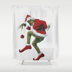 Christmas Grinch Shower Curtain
