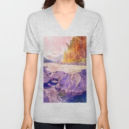 River Nature Unisex V-Neck
