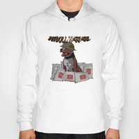 pitbull Hoodies featuring Pitbull Warfare by dr.Mador