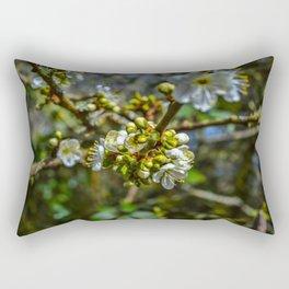Mylor Walk - Blackthorn flowers Rectangular Pillow