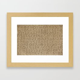 The oldest law code in Europe Framed Art Print
