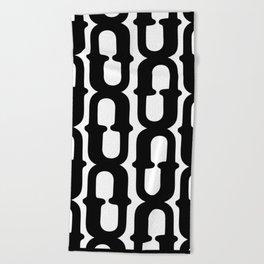 LETTERNS - U - Cooper Black Beach Towel