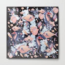 Tales of the Sea Pattern Metal Print