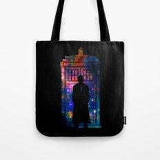 Space Tardis 10th Doctor Tote Bag