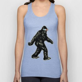 GONE SQUATCHIN' WITH 3D GLASSES Unisex Tank Top