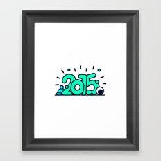 HAPPY 2015! Framed Art Print