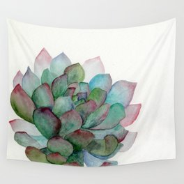 minimalist watercolor succulent Wall Tapestry