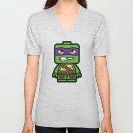 Chibi Donatello Ninja Turtle Unisex V-Neck