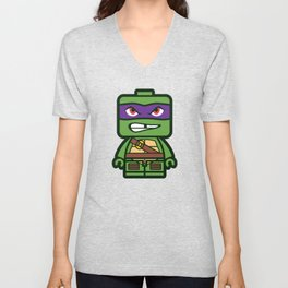 Chibi Donatello Ninja Turtle Unisex V-Neck