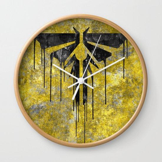 Black Wall Clocks the last of us fireflies (black) wall clocksome_designs | society6