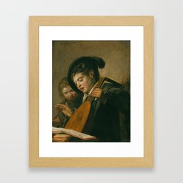 "Frans Hals ""Two singing boys"" Framed Art Print"