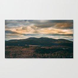 Hilltop Sun Canvas Print