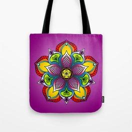Meditative Mandala Flower Tote Bag