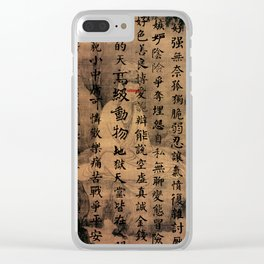 human being Clear iPhone Case