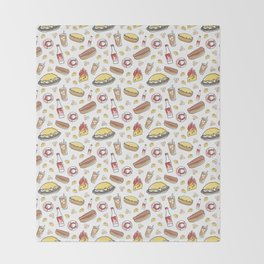 Skyline Chili Pattern Color Throw Blanket