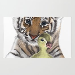 Tiger Cub and Duckling Rug